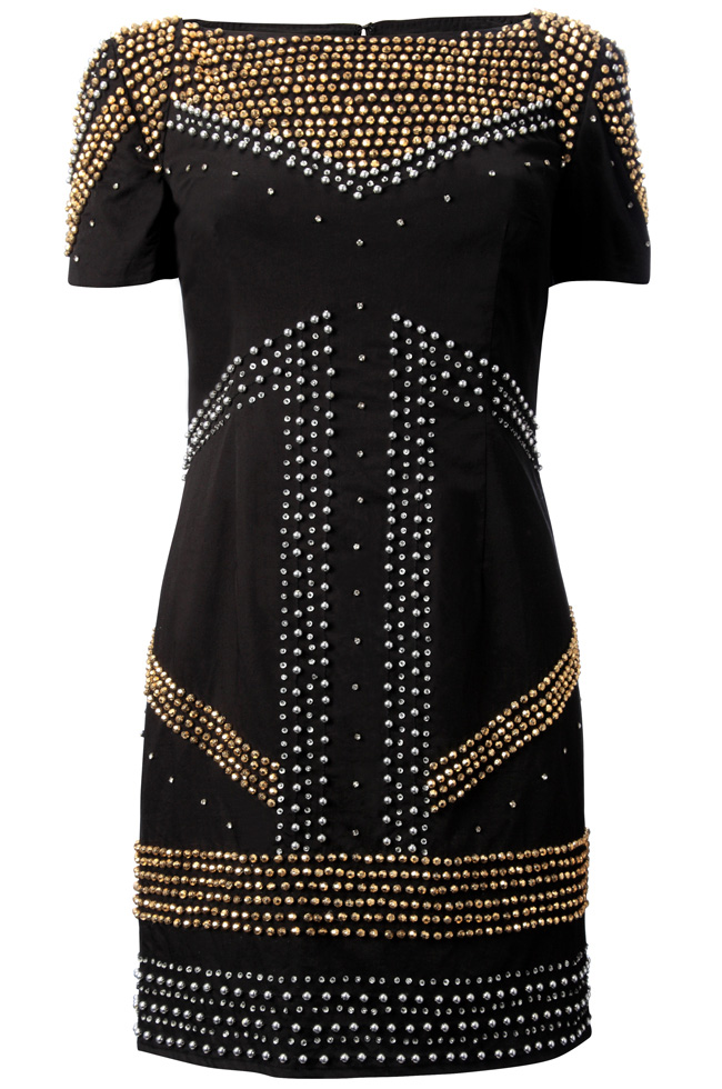 I want this! I am a Balmain freak. Unfortunately this dress is not shoulder padded. And it's £150 for a high street brand.......